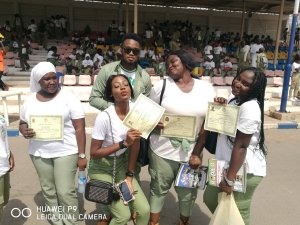 Happy corpers passing out